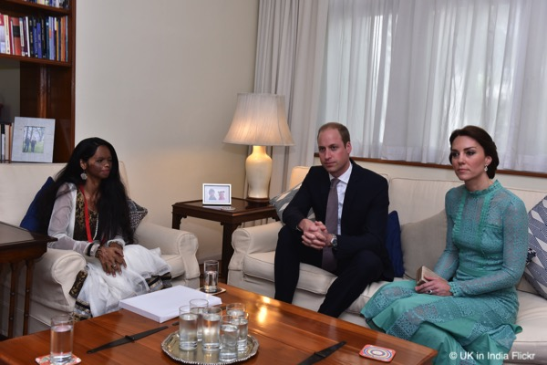 William and Kate meet Laxmi