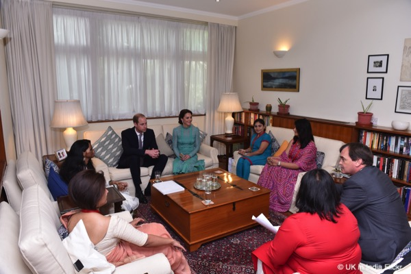 William and Kate meet with inspirational Indian women