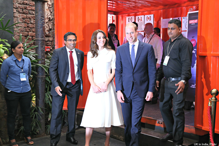 William and Kate meet young entrapreneurs in Mumbai
