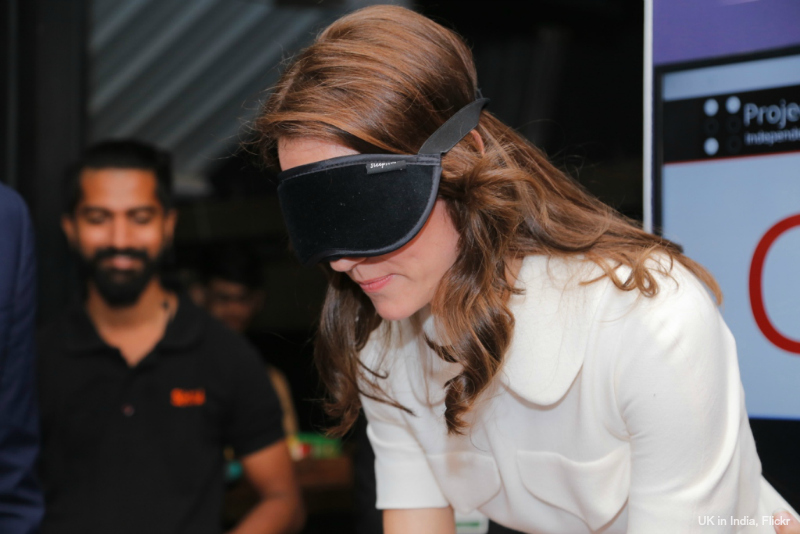 Kate Middleton learns Braille in India