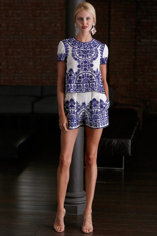 Naeem Khan top & shorts