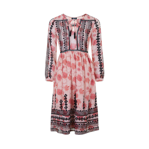 Topshop Embroidered Smock Dress