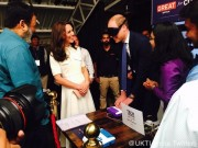 William and Kate testing Brail machine