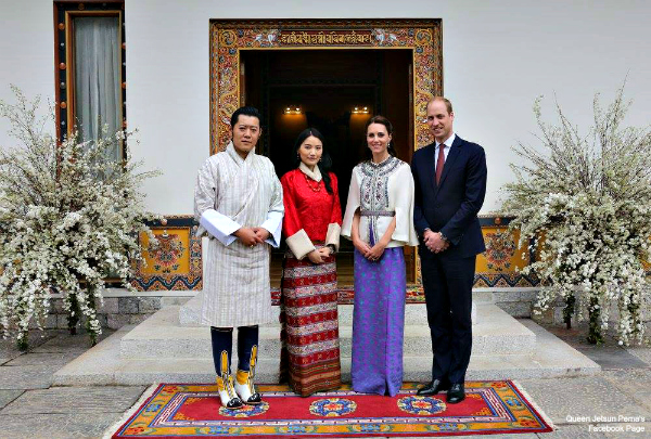 William and Kate meet with the King and Queen of Bhutan