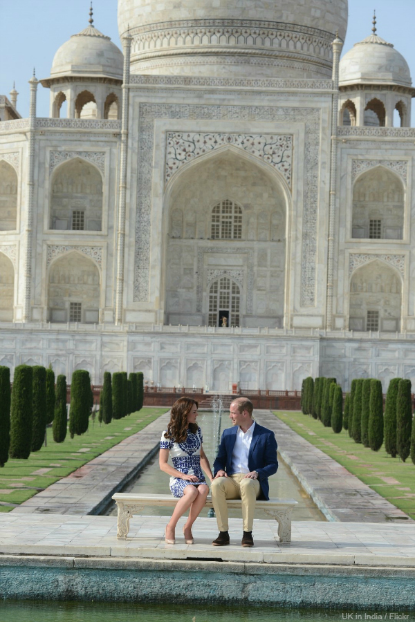 William and Kate visiting the Taj Mahal