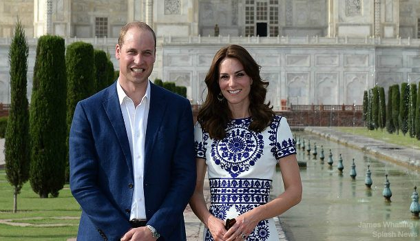 William and Kate visit the Taj Mahal