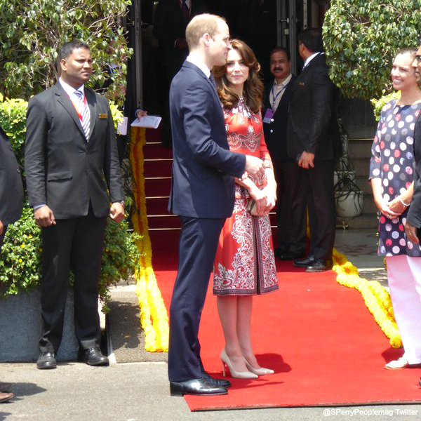 William and Kate at the Taj Palace Hotel
