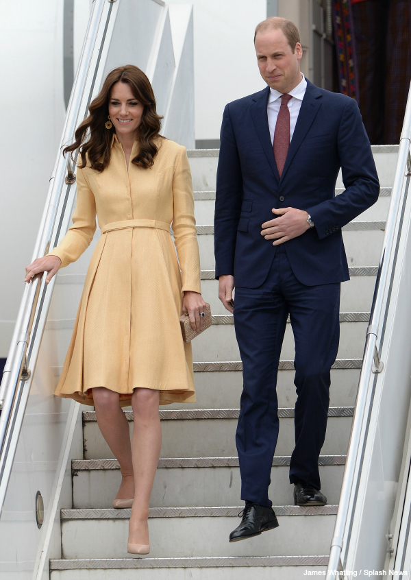 William and Kate arrive in Bhutan