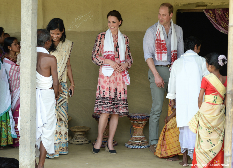 William and Kate meet with villagers from near the national park