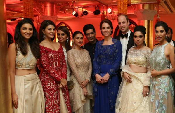 William and Kate with Indian superstars at tonight's gala