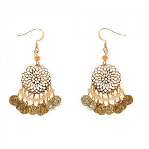Accessorize Filigree and Bead Drop Earrings