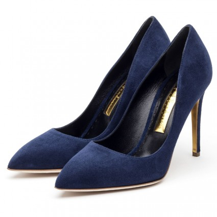 Rupert Sanderson Malory pumps in storm blue