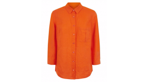 Orange Linen Jaegar Blouse