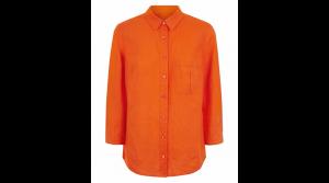 Orange Linen Jaegar Blouse