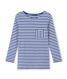 Petit Bateau top in blue and cream