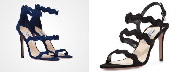 We think Kate Middleton wears Prada sandals with wavy straps