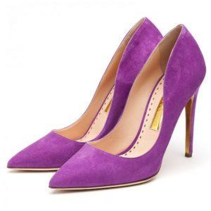 Rupert Sanderson Calice Heels in Purple