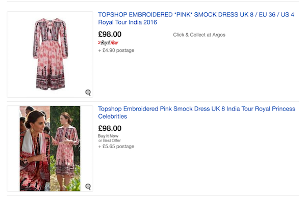 Pink TopShop embroidered dress with floral motifs