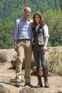William and Kate on their trek in Bhutan