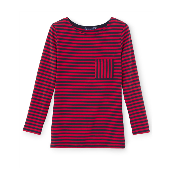 Kate middleton 39 s red blue petit bateau stripe t shirt from for Red blue striped shirt