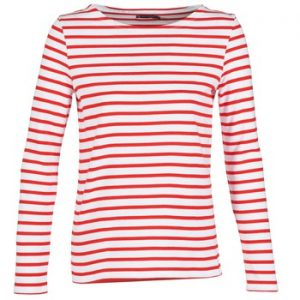 Petit Bateau white and red striped top