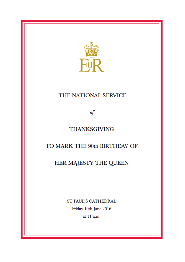 HMQ90 Order of Service