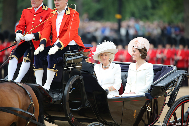 Kate Middleton, Camilla the Duchess of Cornwall at this year's Trooping the Colour parade