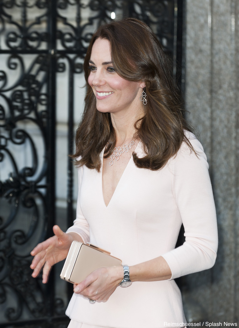 Kate, The Duchess of Cambridge leaves the National Portrait Gallery in London for the VOGUE 100 - A Century of Style exhibition.