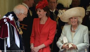 Kate repeats red Catherine Walker ensemble for Order of the Garter 2016
