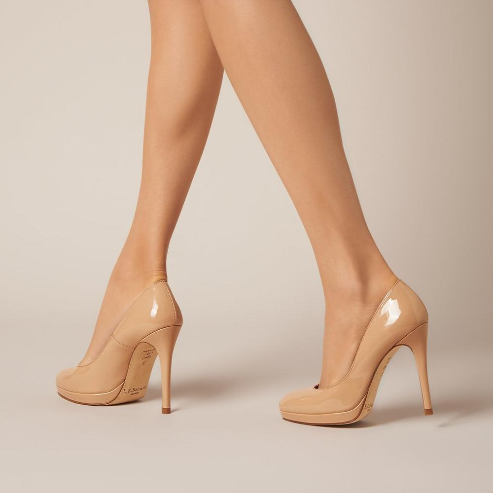 L.K. Bennett Sledge pumps in nude leather