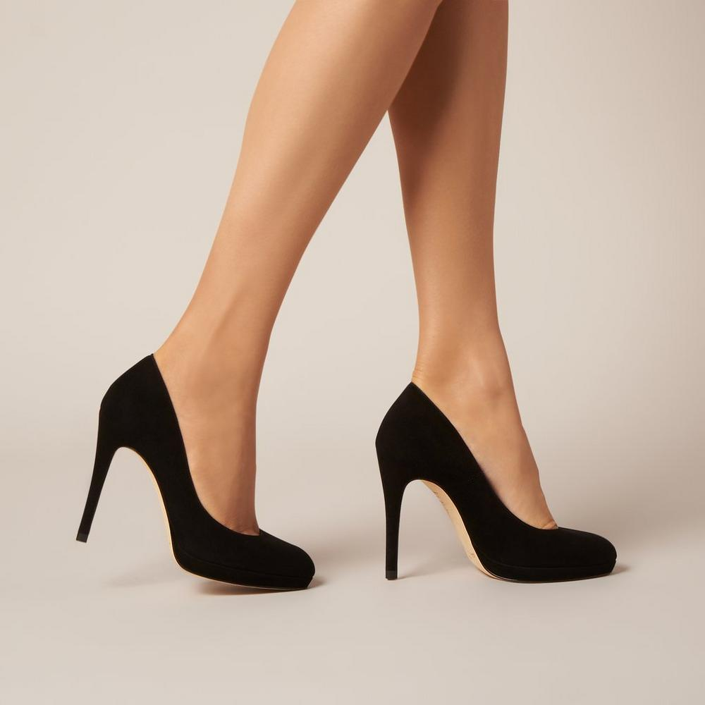 L.K. Bennett Sledge pumps in black suede