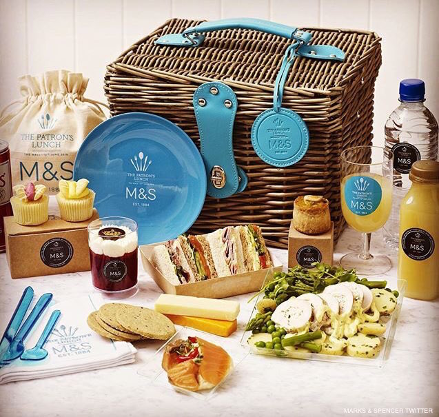M&S hamper contents at The Patron's Lunch
