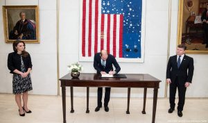 William and Kate visit the U.S. Embassy to sign the book of condolence