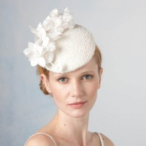 Jane Taylor Beaded Cocktail Hat with Orchids