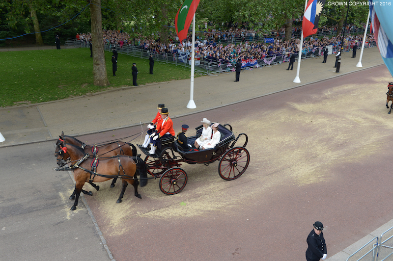 Prince Harry, Kate and Camilla the Duchess of Cornwall rode in the carriage together