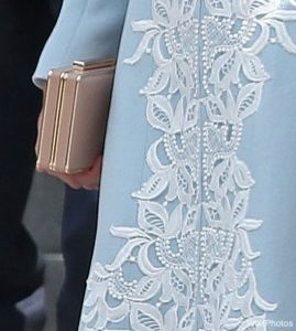 Kate Middleton's nude clutch bag at the service of thanksgiving for the Queen's 90th birthday