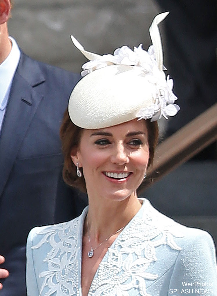 Kate Middleton's hat at the service of thanksgiving for the Queen's 90th birthday