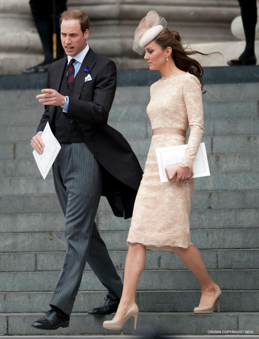 Kate Middleton wearing the L.K. Bennett Sledge pumps in London 2012