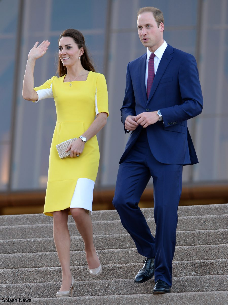 Kate Middleton wearing the L.K. Bennett Sledge pumps in Sydney 2012