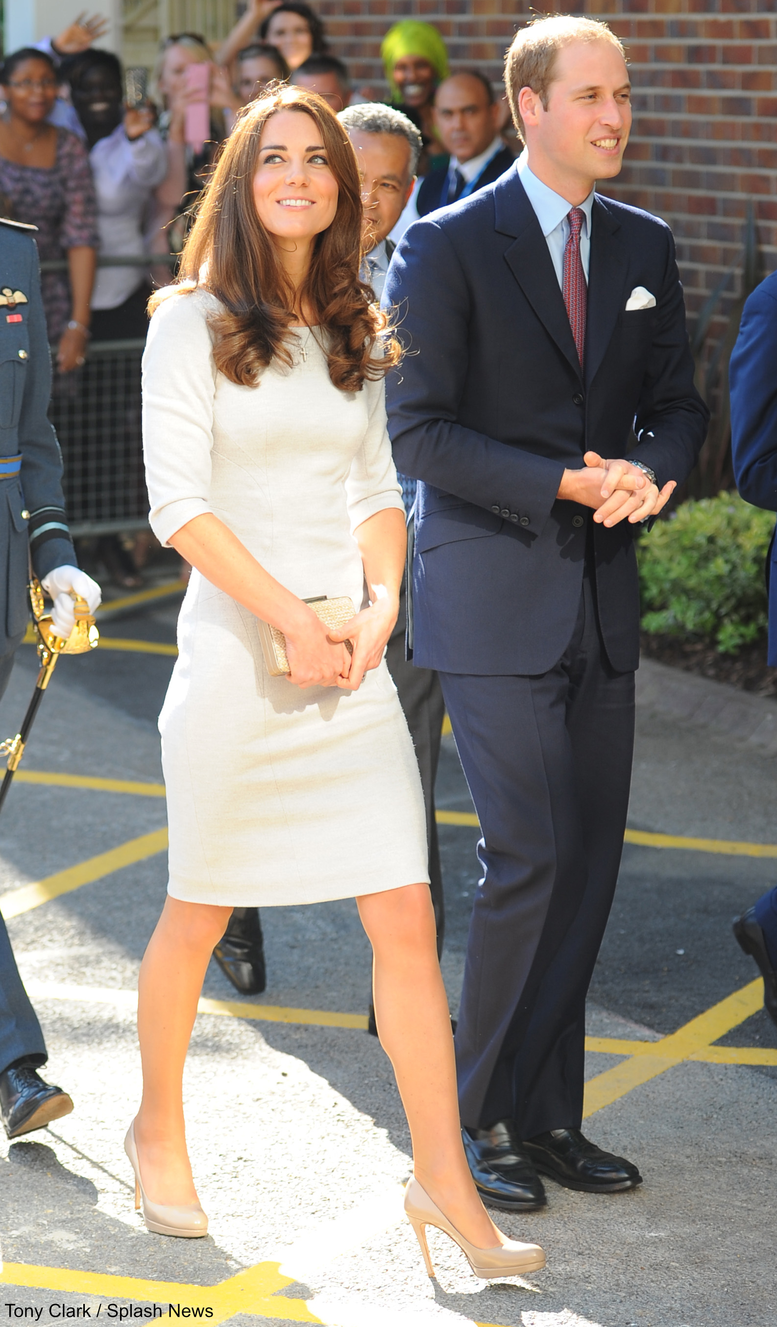 Kate Middleton wearing her L.K. Bennett Sledge Pumps