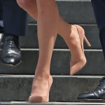 Kate Middleton's Gianvito Rossi heels in suede