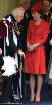 Kate Middleton wearing Catherine Walker at Order of the Garter in 2016