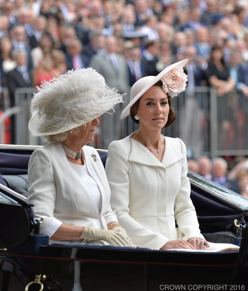 Kate Middleton wore Balenciaga Pearl Earrings to Trooping the Colour in 2016