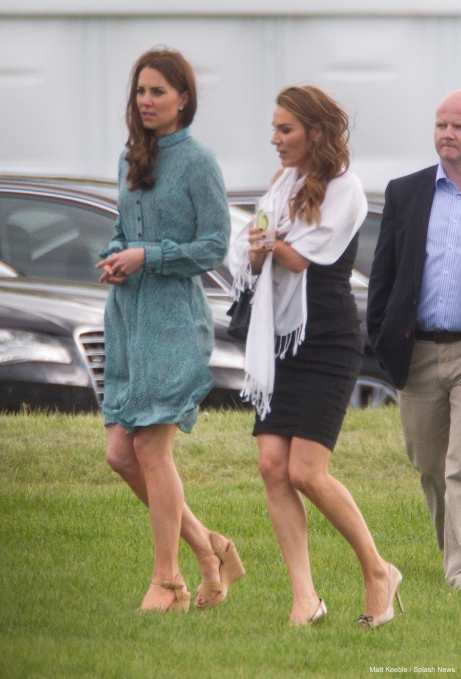 Kate Middleton wearing the Stuart Weitzman minx wedges to a polo match in 2012