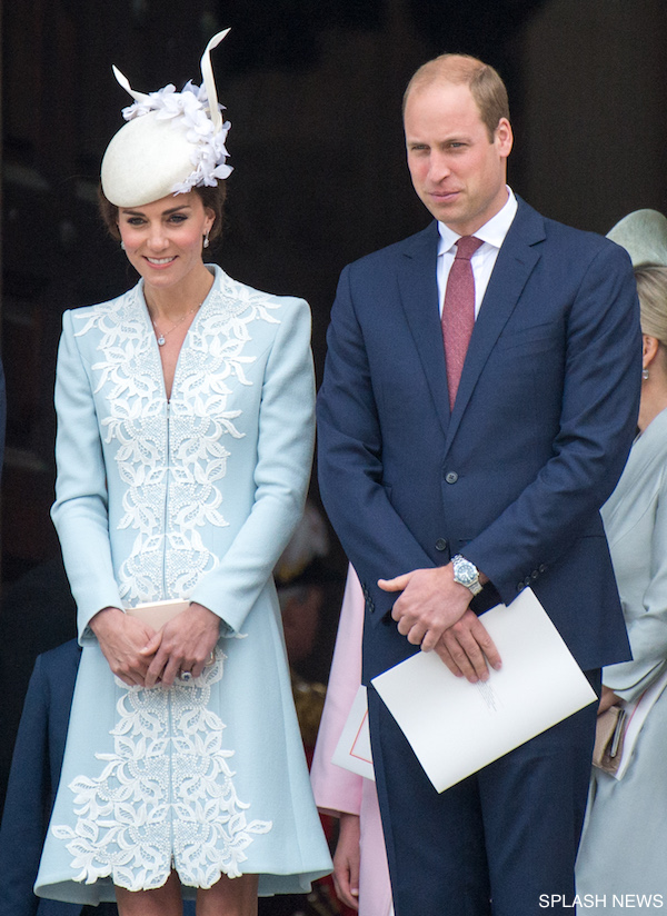 A National Service of Thanksgiving as part of the 90th birthday celebrations for Queen Elizabeth II at St Paul's Cathedral in London <P> Pictured: Catherine, Duchess of Cambridge and Prince William, Duke of Cambridge