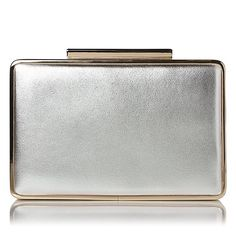 L.K. Bennett clutch bag in Gold and Silver
