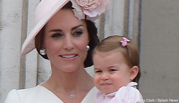 Princess Charlotte on the Balcony at Buckingham Palace