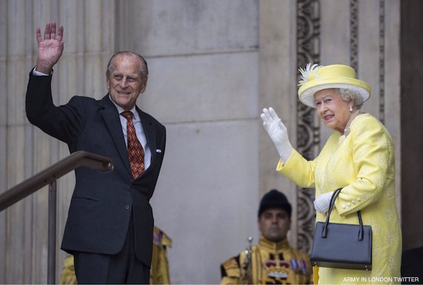 The Queen and Prince Philip at the 90th Birthday celebrations