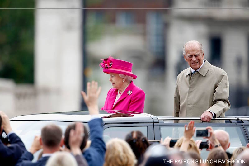 The Queen and Prince Philip at The Patron's Lunch