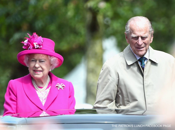Queen at the Patron's Lunch